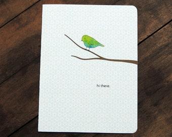 Little Bird hello, Hi there card