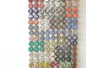 Crazy Quilt - bottle cap tapestry