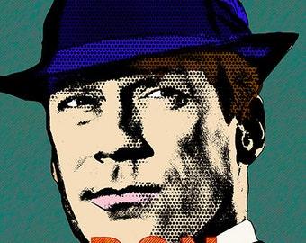 Print Don Draper Comic poster illustration print celebrity portrait pop  Birthday Gift art canvas wall decor giclee