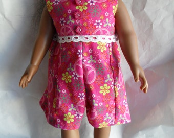 Jumpsuit Dress for American Girl Gotz HandMade Doll Clothes JumpSuit