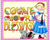 Mary Engelbreit  Magnet by Very Merry Magnets Court Your Blessings ll Gifts Decor