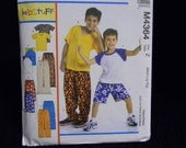 New Uncut McCall's Pattern 4364 Size  Med-Xlg Boys' T-Shirts, Shorts and Pants