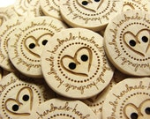 1 inch Wooden Buttons handmade Set of  10 boxed set made in USA