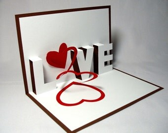 Spiral Love Pop Up Card