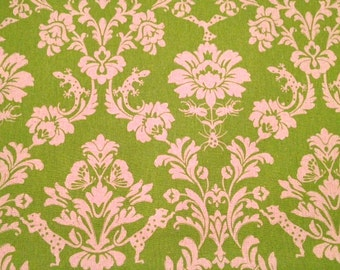 Echino by Etsuko Furuya, Decoro, Gothic Damask Green 1 Yard