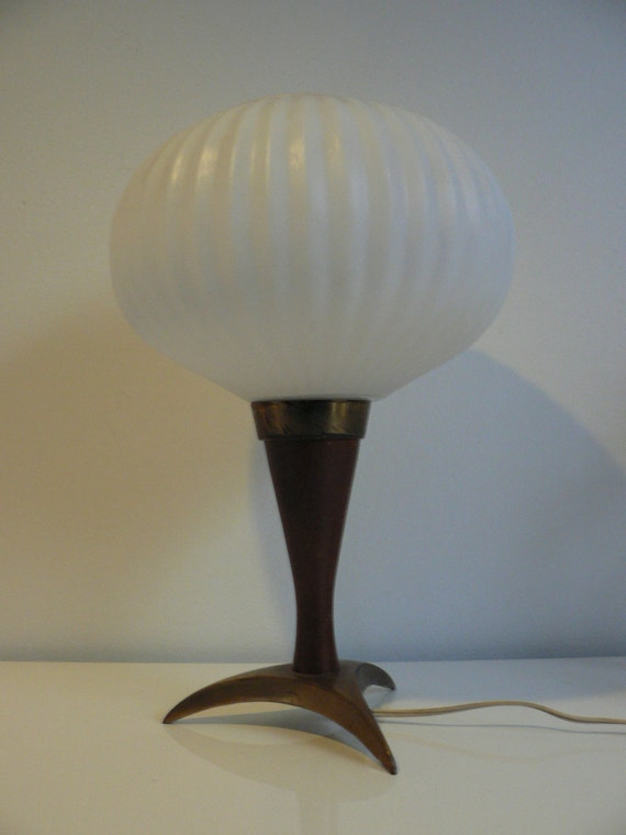 Vintage Danish Modern Teak table Lamp /Mid Century Modern