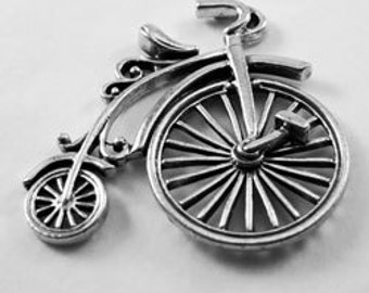 Penny Farthing Bicycle - self bail pendant Australian Pewter