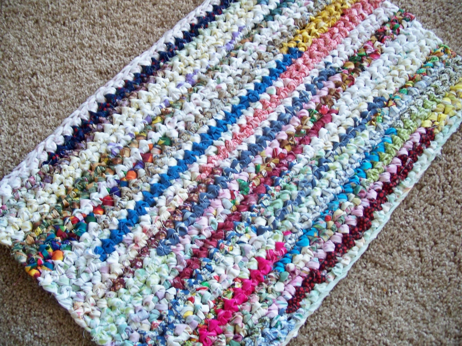 Rectangle Crocheted Rag Rug