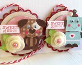 Sweet Valentine's Day Embellishments - Puppy and Robot