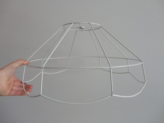 VINTAGE cafe style wire LAMP shade FRAME