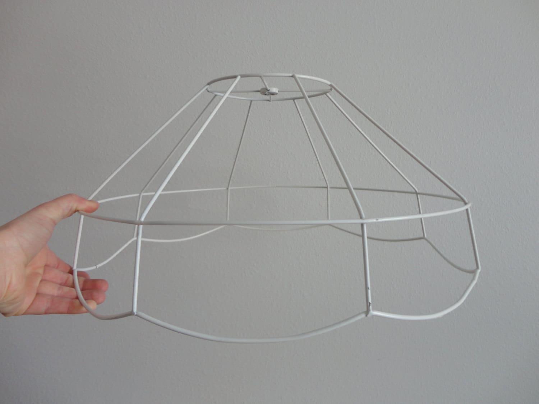vintage cafe style wire lamp shade frame. Black Bedroom Furniture Sets. Home Design Ideas