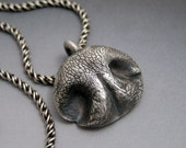 Dog Nose Necklace in Fine Silver - Personalized for Medium dog