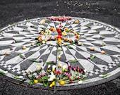 Strawberry Fields John Lennon Mosaic Central Park Fine Art Print