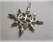 Axel's Chakram Pendant Sterling silver - Axel's Chakram Necklace Sterling Silver - Axel's Chakram Necklace Sterling Silver Replica