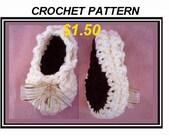 crochet pattern, baby booties num. 455, BALLERINA BOOTIES, newborn to age 2, instant digital download