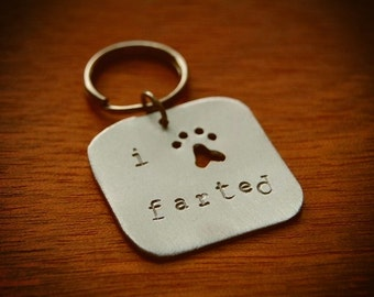 READY TO SHIP: I Farted Dog Tag - Handmade Pet Tag, Cute Dog Gift, Accessories for Dogs, Smelly Dog Gift, Metal Fart Charm, Stinky Pup Gift