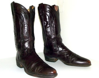 Vintage Dan Post cowboy boots size 9 D or cowgirl size 10.5