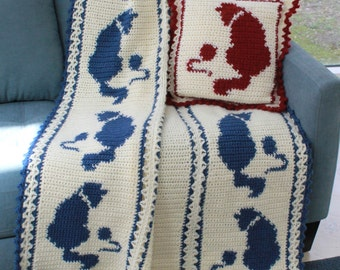 Cat and Mouse Afghan Pattern PDF