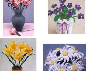 Thread Flower Crochet Patterns PDF