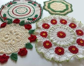 Vintage Christmas Doilies Crochet Pattern PDF