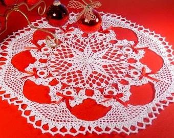 Poinsettia Angel Doily Crochet Pattern PDF