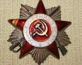 Vintage OTE4ECTBEHHAR BONHA Hammer & Sickle Russian Soviet Great PATRIOTIC War Medal