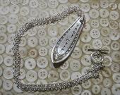 "Soul Mate Heirloom Vintage Silver Spoon Handle Necklace 18"""