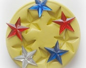 Star Fondant Silicone Mold Molds Red Star Fourth Of July Moulds