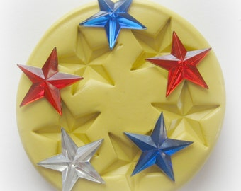 Silicone Star Mold Fondant Star Mold Resin Moulds 4th of July Mold Small Star Mold Soap Polymer Clay Molds