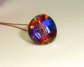 Swarovski crystal Volcano faceted button  3019 ONE BUTTON