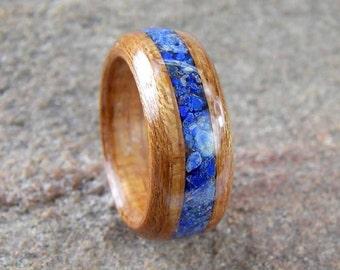Bentwood Ring Kauri with Lapis Inlay