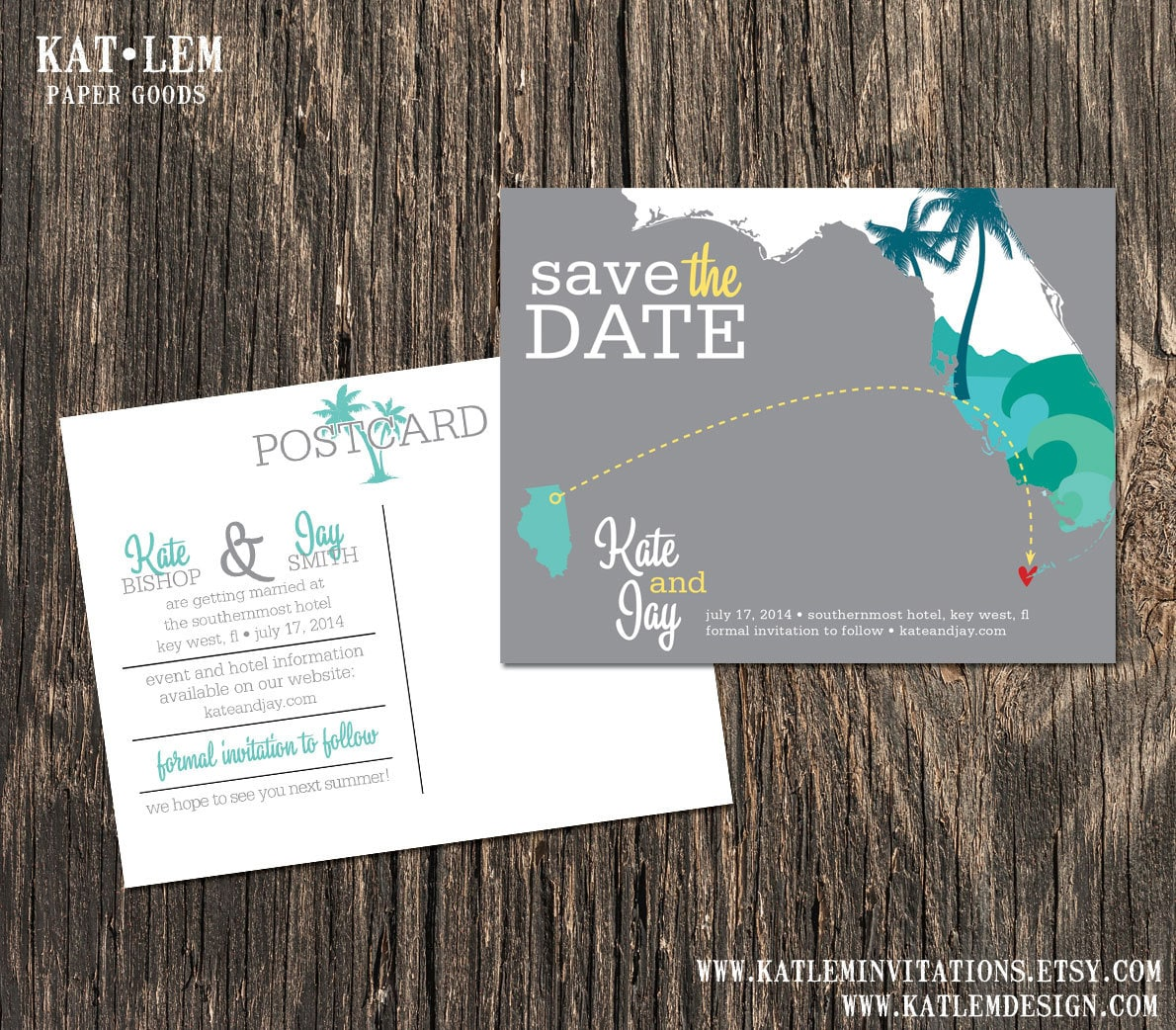 Key West Wedding Ideas: Key West Florida Save The Date Destination Wedding