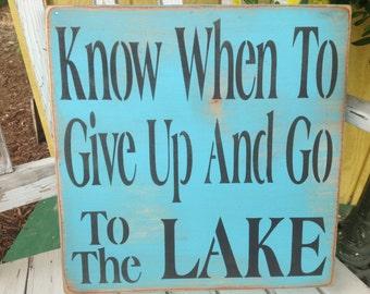 Lake sign, lake rules, lake house sign, blue lake sign, at the lake, life's better at the lake