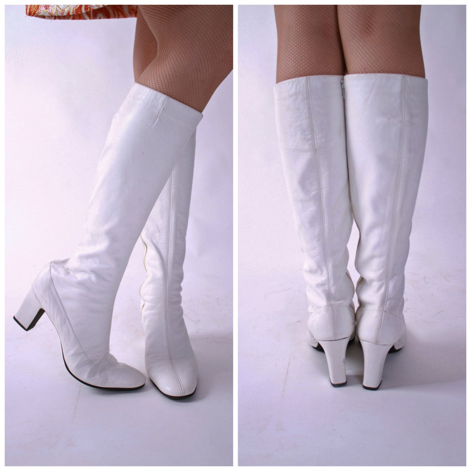 Perfect Pleaserusa Women39s Heel Wide Width Gogo Boot White Stretch Patent Size