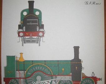 Vintage Train Print, Double sided