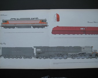 Trains of several types on one Print
