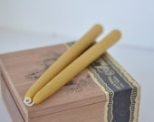 "Beeswax Taper Candles 8"" Eco Natural Home Decor"