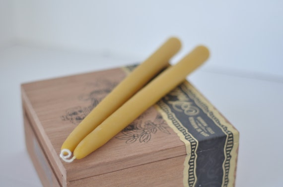 """Beeswax Taper Candles 8"""" Eco Natural Home Decor"""