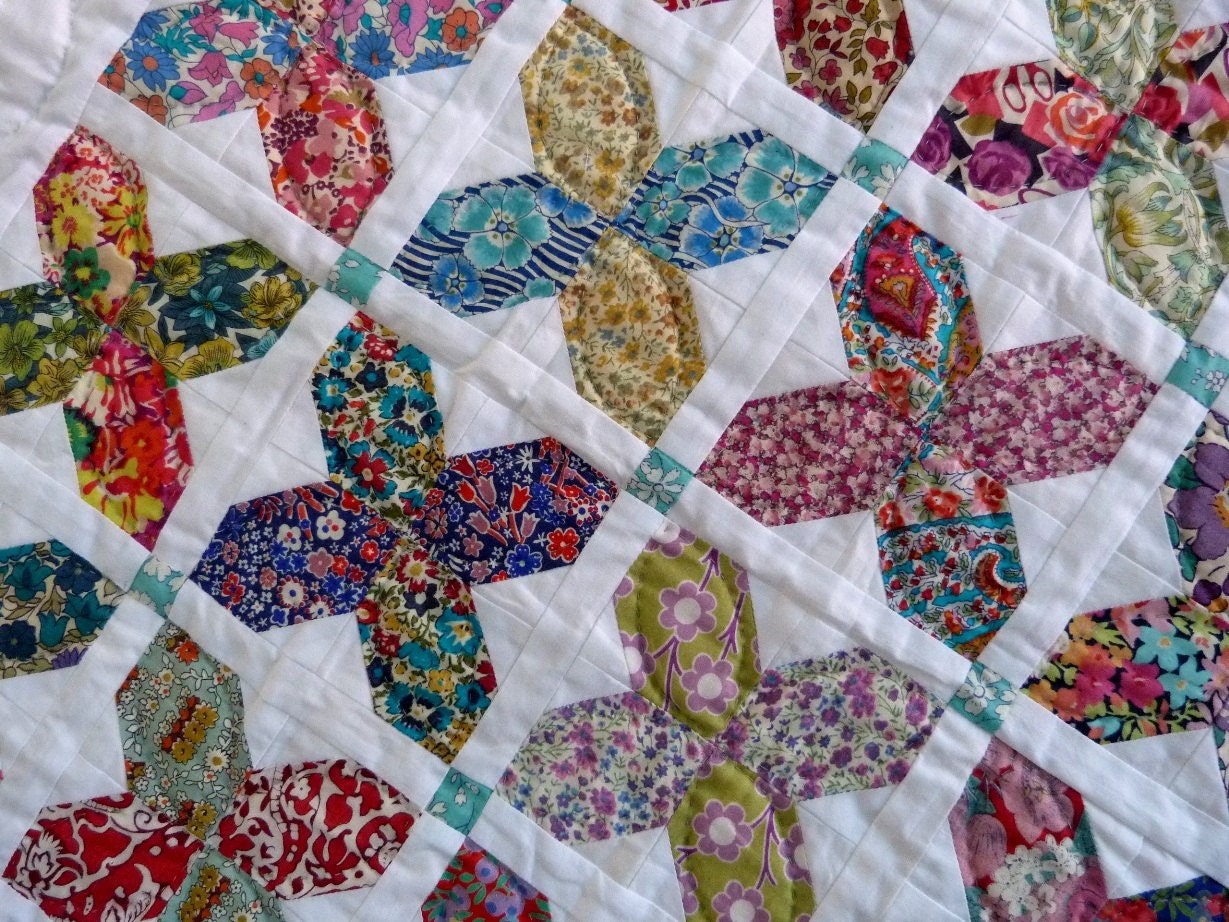 Liberty Patchwork Baby Quilt Liberty Of London Tana Lawn