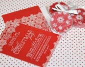 SNOWFLAKE FORMAL HOLIDAY Printable Party Invitation Printing Available