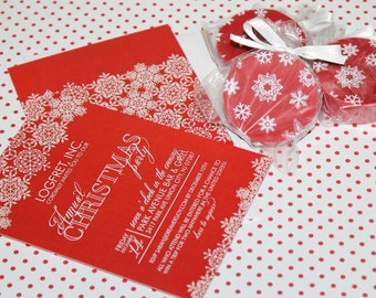 SNOWFLAKE FORMAL HOLIDAY Printable Party Invitation Printing Available