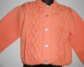 Stylish Cable Cardigan,  Size 3 / 4T