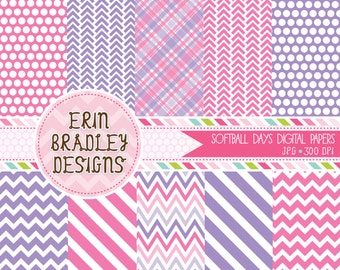 Pink and Purple Digital Paper Pack Personal & Commercial Use INSTANT DOWNLOAD