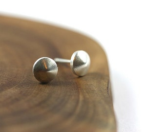 studs, posts, sterling silver, tiny, earrings, spinning top, etsymetal team