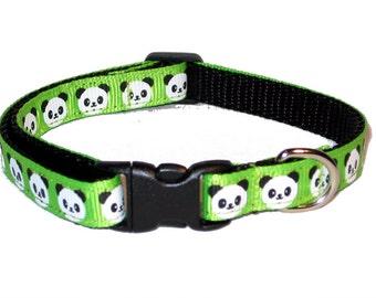 Panda Cat Collar with Breakaway Safety Buckle