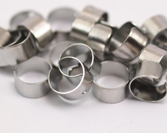 100  Nickel Free Brass Ear Cuffs With One Hole Round  Findings , Nickel Free (9 Mm) Brs 000  D037