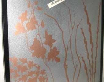 Copper Brass Twigs .. Magnetic Dry Erase Steel Memo Board // housewarming gift // wall organization // office organizer // decor // desk