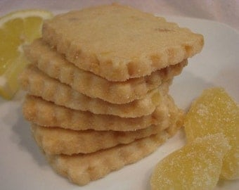 Lemon Ginger Shortbread Cookies