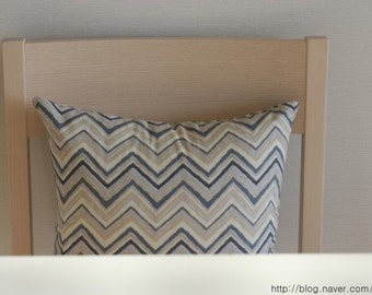 Retro Style Chevron Patterned Linen Pillow Case(Cover, Slip)