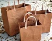 Shopping Bag Set : Tyvek and Kraft paper shopping bag/market bag/handbags/lunch bag/washable bag and eco friendly